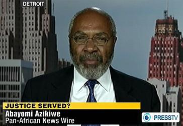 Press TV ka realizuar një intervistë me Abayomi Azikiëe, redaktor i Pan Africa Neës Ëire nga Detroit
