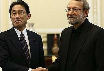 Kryetarin e Kuvendit të Iranit (Mexhlisi), Ali Larixhani me Fumio Kishida nga Japonia