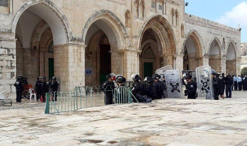 Foto nga fillim i këtij muaji kur forcat izraelite hynë    në Xhaminë Al-Aqsa, për herë të parë në dekada