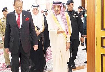 Kujdestari i dy Xhamive të Shenjta, Mbreti Salman dhe Kryetari i Pakistanit, Mamnun Hussein në Xheddah.