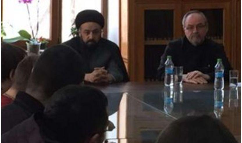 Huxhat-ul-Islam Sejjid Mustafa Husseini Neishaburi dhe Zëvendësi i Peshkopit të Kishës Ortodokse të Rumanisë, Varlaame