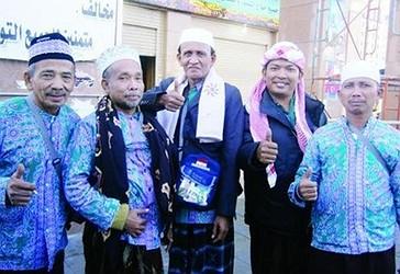 Disa haxhinjt nga Indonezia në Medine