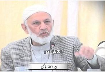 Pir Ijaz Hashmi, kryetari i Xhamiat  Ulema i Pakistanit (JUP)