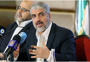 Lideri i lëvizjes së rezistencës palestineze, Khaled Meshaal gjatë një konference ku ka parashtruar dokumentacionin e politikës së re të lëvizjes në Doha, Katar më 1 maj 2017. (Foto nga Reuters)