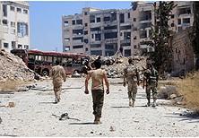 Strehimoret përdoreshin për mbajtjen e armëve, gratë në Halep.
